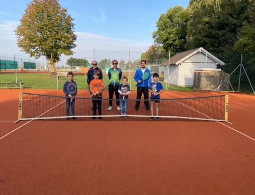 Inklusionsklasse zu Besuch bei der Sparte Tennis